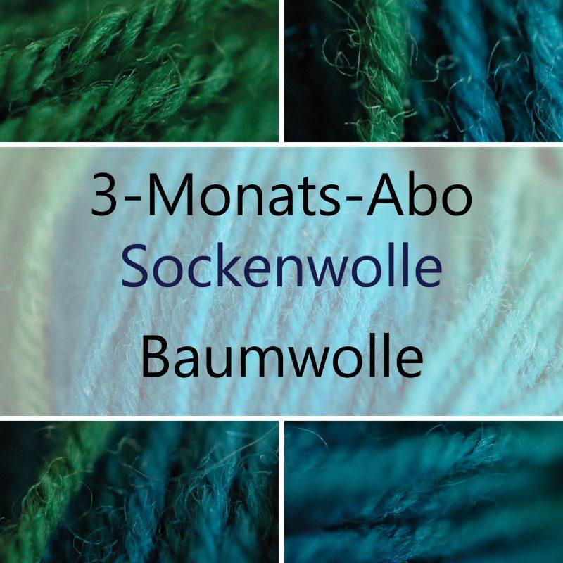 Handgefärbte Wolle - 3-Monats-Abo-Sockenwolle