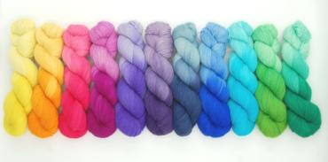 Handgefärbte Wolle - Farbularasa - Zwielicht