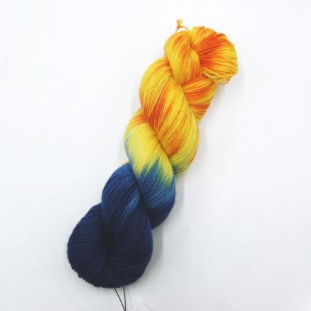 Handgefärbte Wolle - Farbularasa - komplementär