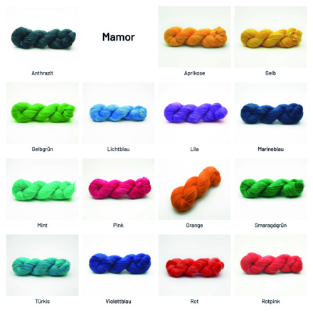 Handgefärbte Wolle - Mamor