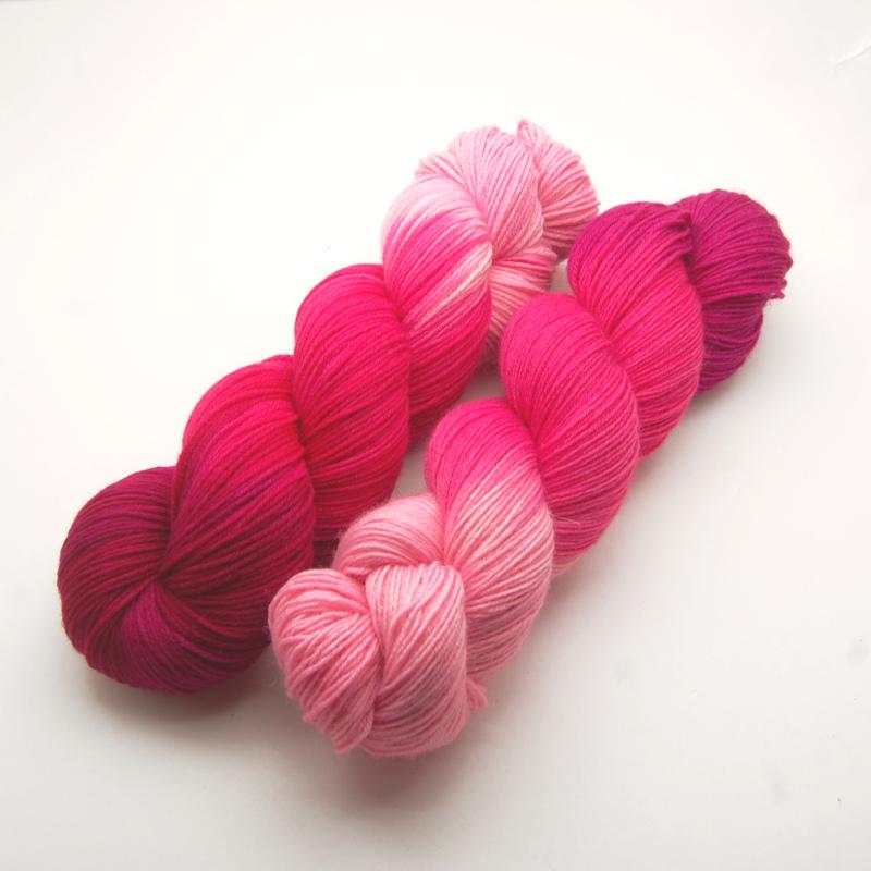 Handgefärbte Wolle - Farbularasa -flamingo