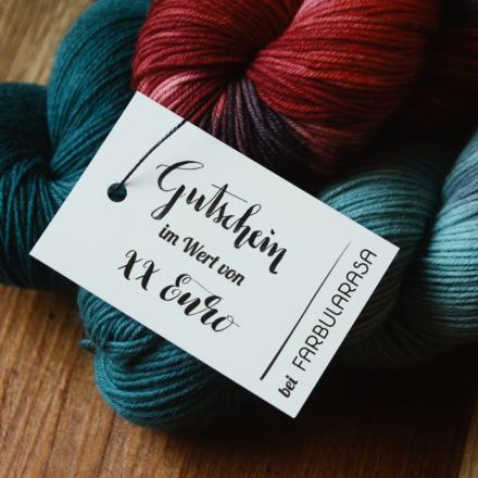 Farbularasa Gutschein Wolle