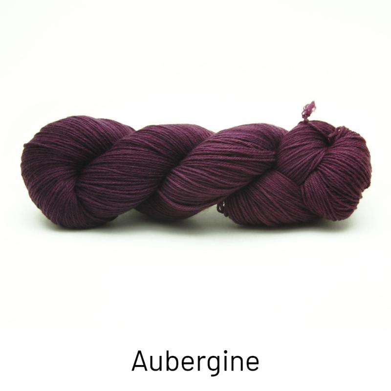 Handgefärbte Wolle - Farbularasa - Semisolide Hightwist - Aubergine