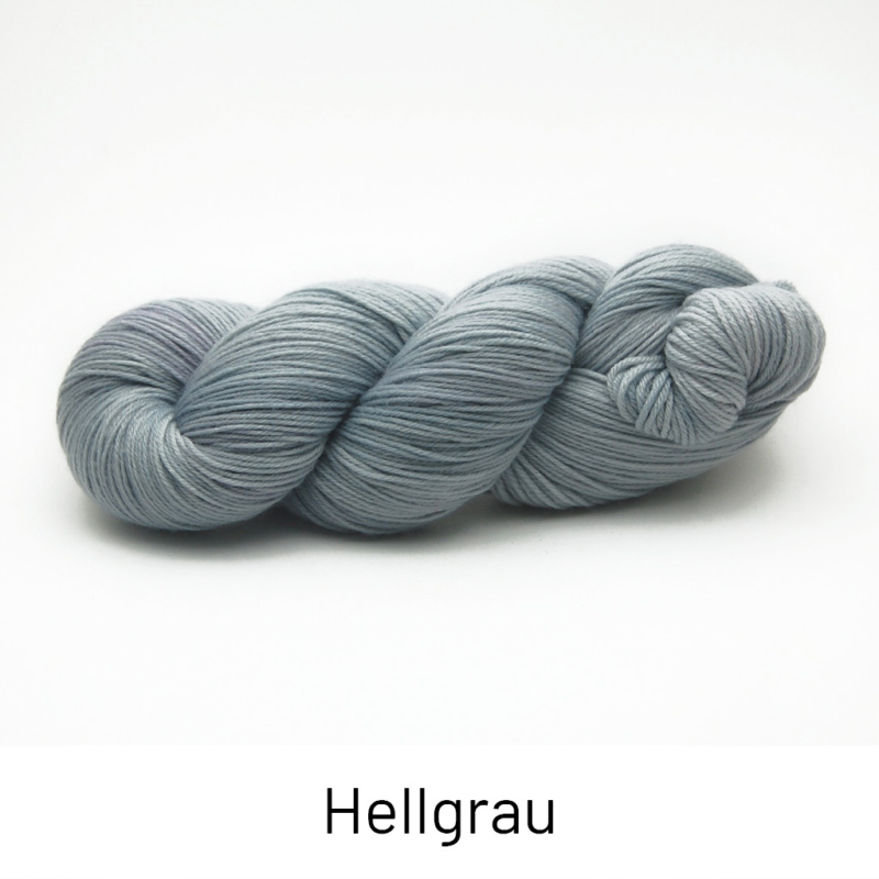 Handgefärbte Wolle - Farbularasa - Semisolide Hightwist - Hellgrau
