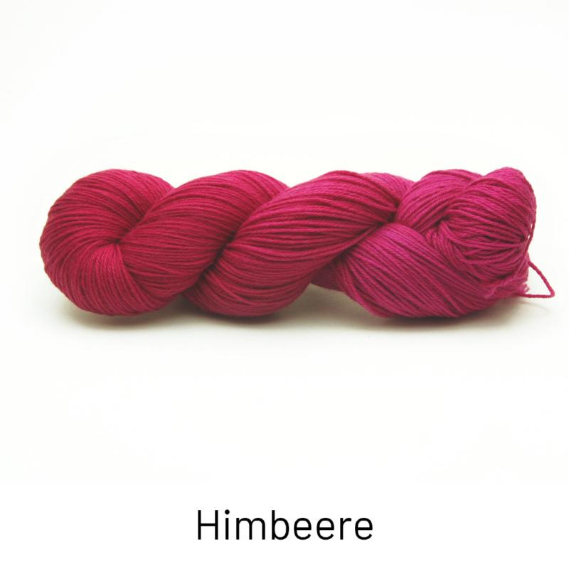 Handgefärbte Wolle - Farbularasa - Semisolide Hightwist - Himbeere