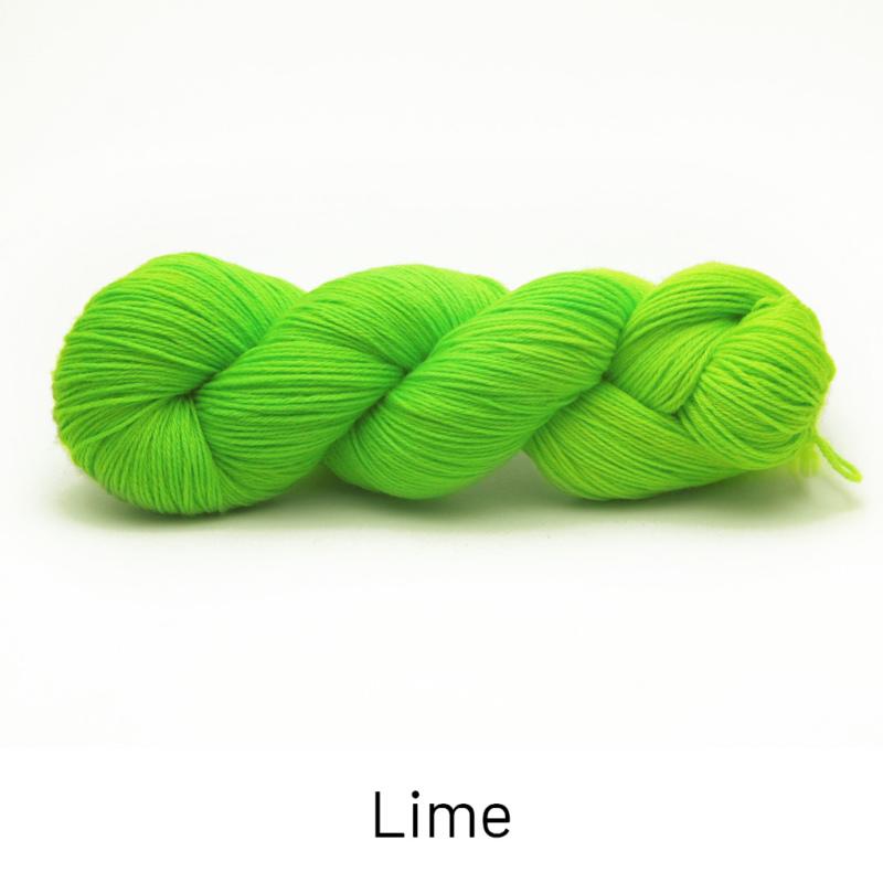 Handgefärbte Wolle - Farbularasa - Semisolide Hightwist - Lime