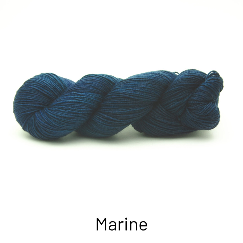 Handgefärbte Wolle - Farbularasa - Semisolide Hightwist - Marine