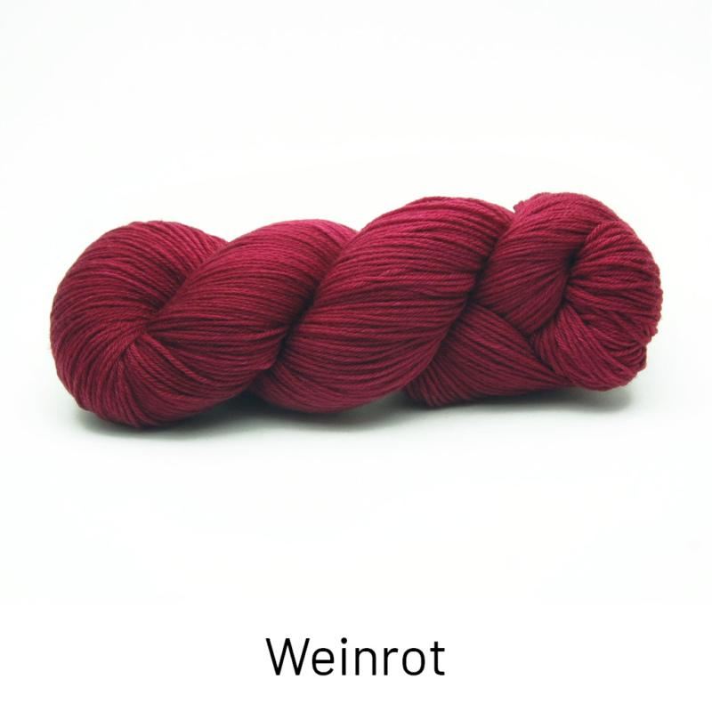 Handgefärbte Wolle - Farbularasa - Semisolide Hightwist - Weinrot