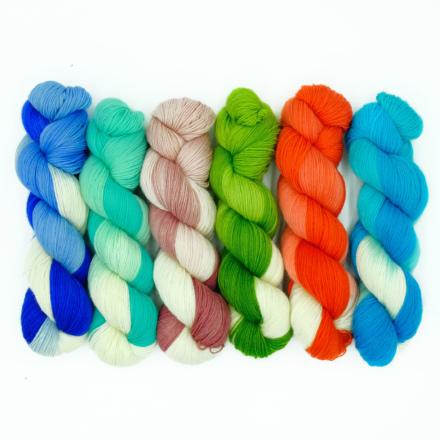 Handgefärbte Wolle - Farbularasa - Schneewitchen