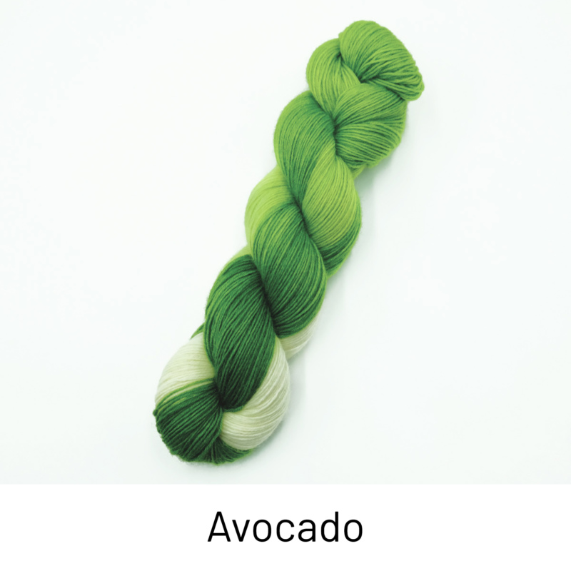 Handgefärbte Wolle - Farbularasa - Avocado