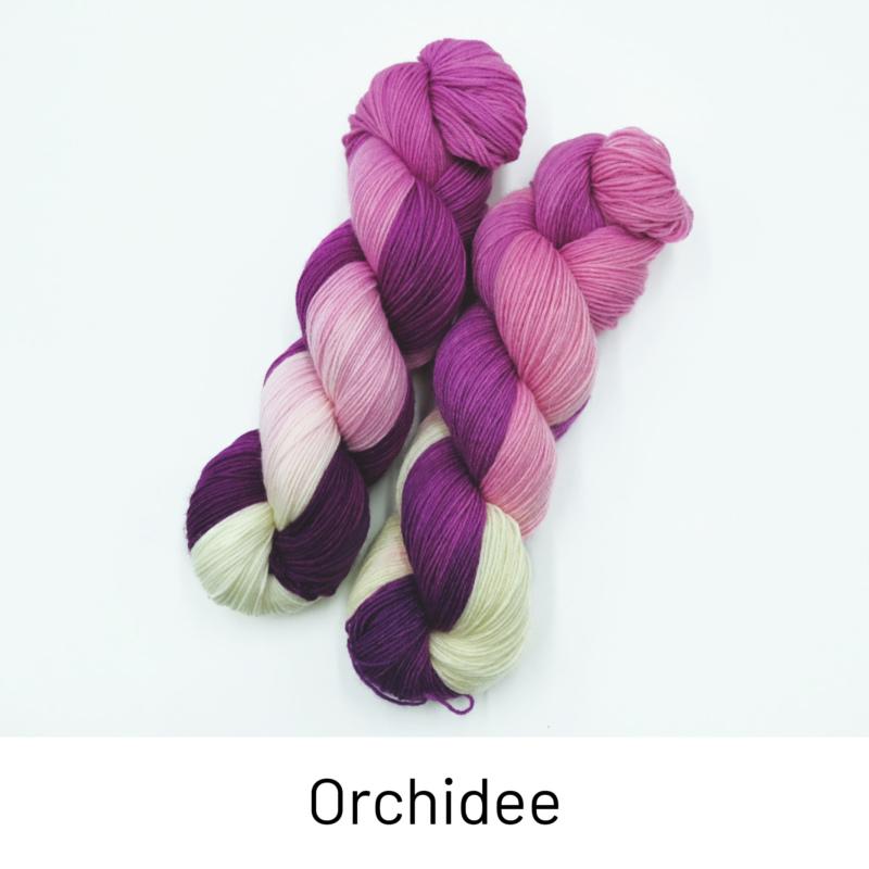 Handgefärbte Wolle - Farbularasa - Orchidee