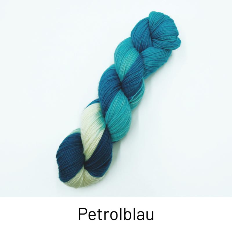 Handgefärbte Wolle - Farbularasa - Petrolblau
