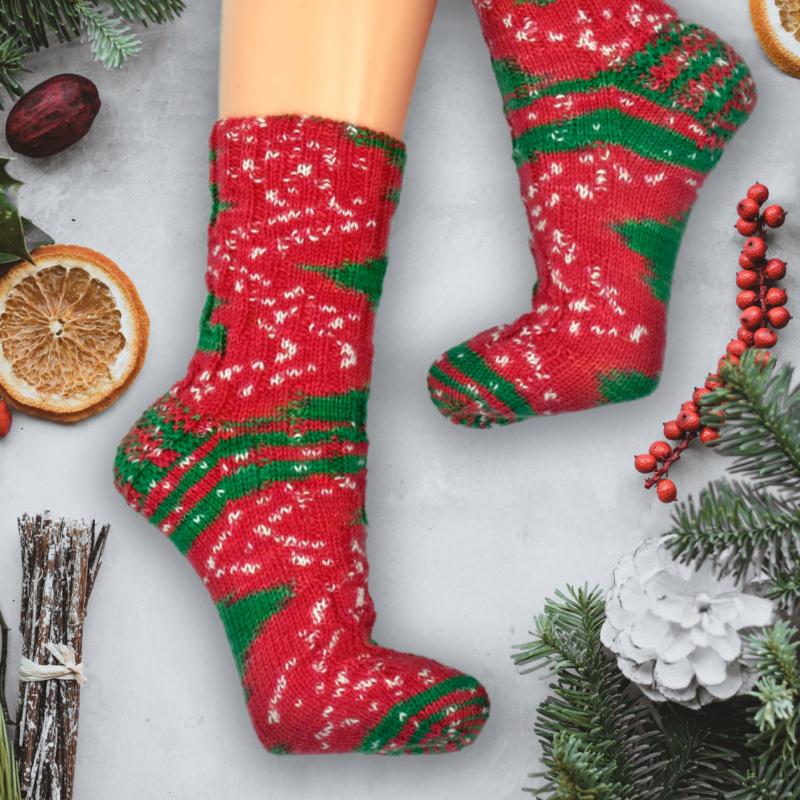 Handgefärbte Wolle Snowy X-Mas weihnachtlich - Farbularasa - Monatsfärbung